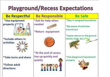 Recess & Playground Positive Behavior Expectations