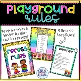 Recess / Playground Rules Book