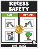 Recess Playground Safety Sorting Cards for Kindergarten &