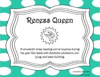 Recess Queen Close Reading Unit