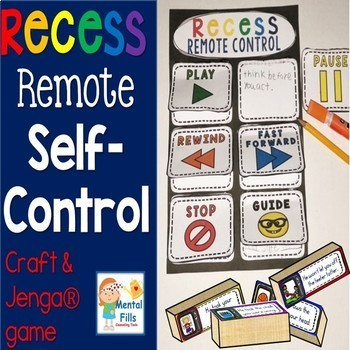 Self-Control Jenga® Game, Craft, and Poster