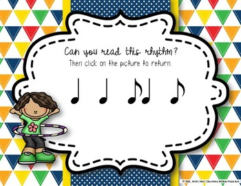 Recess Rhythms! Interactive Rhythm Reading Game - Syncopa (Kodaly Review)