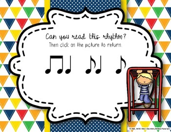 Recess Rhythms! Interactive Rhythm Reading Game - Syncopa (Kodaly Review)