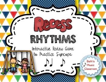 Recess Rhythms! Interactive Rhythm Reading Game - Syncopa