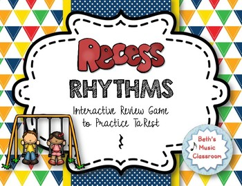 Recess Rhythms! Interactive Rhythm Reading Game - Ta rest (Kodaly Review)