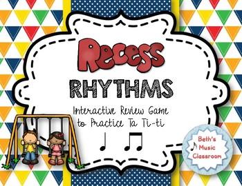 Recess Rhythms! Interactive Rhythm Reading Game - Ta, ti-t