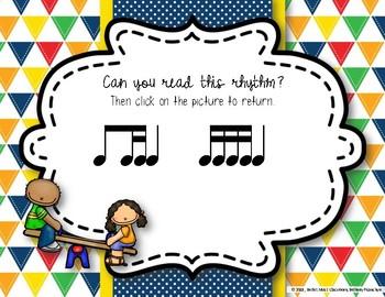 Recess Rhythms! Interactive Rhythm Reading Game - Ti-tika (Kodaly Review)