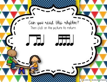 Recess Rhythms! Interactive Rhythm Reading Game - Ti-tika