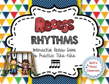 Recess Rhythms! Interactive Rhythm Reading Game - Tika-tik