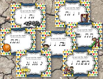 Recess Rhythms! Reading Game BUNDLE - 7 Items! (Kodaly Review)