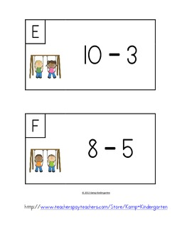 Recess Rocks Subtract the Room (Minuends to 10)