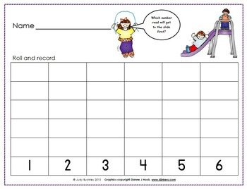 Recess Roll and Record With One or Two Dice