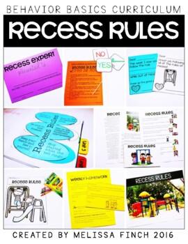 Recess Rules- Behavior Basics Program for Special Education