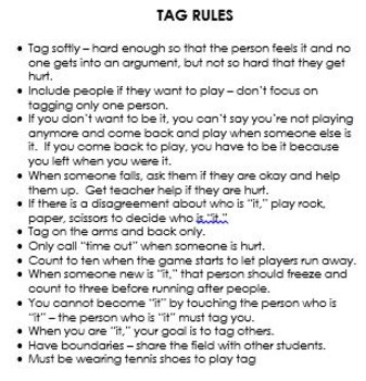 Recess Rules & Expectations