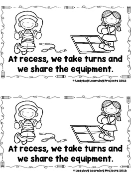 Recess  Rules......For Having Fun!  (A Sight Word Emergent Reader and Lap Book)