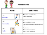 Recess Rules Poster