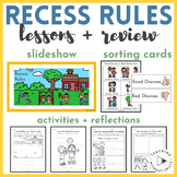 Recess Rules Slideshow, Sort, Activities, Worksheets, Posters for K-2 PBIS