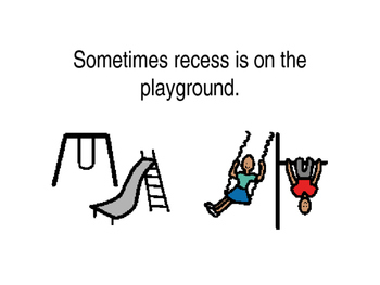 Recess Safety social story