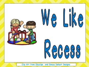 Recess Shared Reading Kindergarten or 1st Grade- Back to School