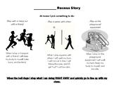 Recess Social Story: customizable