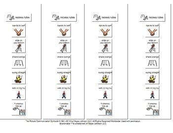 Recess Social story and visuals