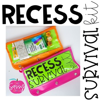 Recess Survival Kit Tag