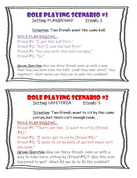 Recess Talk Part Two - Role Playing Cards