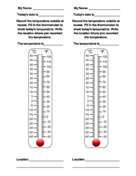 Recess Temperature Recorder