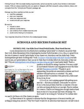 Recess Text Set for Test Writing