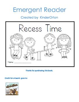 Recess  Time - Emergent Reader