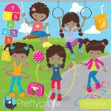 Recess fun kids clipart commercial use, vector graphics, digital - CL677