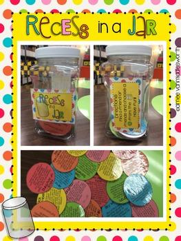 Recess in a Jar: Activities for Indoor Recess