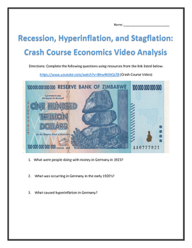 Recession, Hyperinflation, and Stagflation: Crash Course Video Analysis with Key