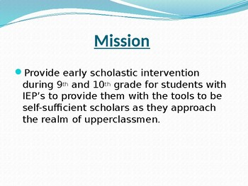 Recharge Initiative: Early Intervention for Special Education (SLD)