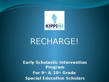 Recharge Initiative: Early Intervention for Special Educat