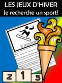 Recherche -sport olympique d'hiver! Livre à rabats (FRENCH - FSL)