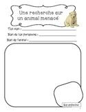 Recherche sur un animal menacé - Endangered animal researc