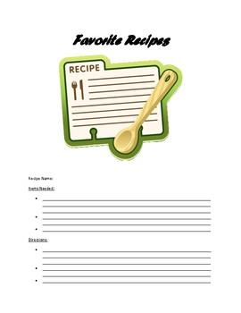 Recipe Book for Kids