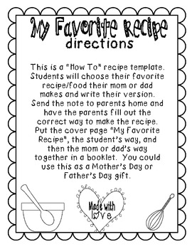 Recipe Cards {How to Writing Template} *FREEBIE*
