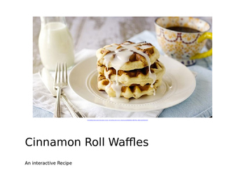 Recipe-Cinnamon Roll Waffles