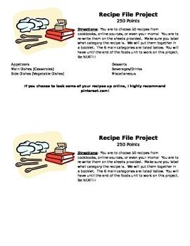 Recipe File Project