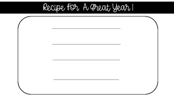 Recipe For A Great Year Anchor Chart