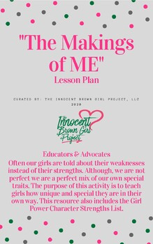"""""""The Makings of ME"""" Lesson Plan"""