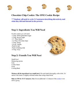 Recipe:  Just One Cookie
