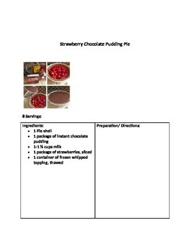 Life Skills: Recipe Packet for Cooking with Students