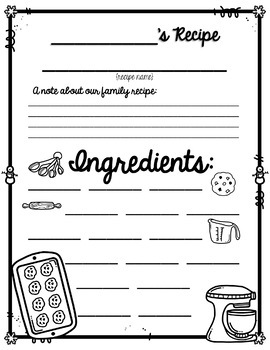 Recipe Pages Free