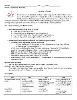 Recipe Project: Mi Receta IPA Speaking and Writing