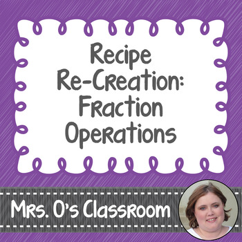 Recipe Re-Creation - Practice with Fraction Operations