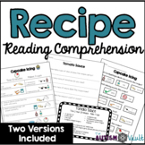 Recipe Reading Comprehension - Life Skills and Functional Literacy