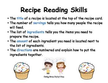 Recipe Reading Skills